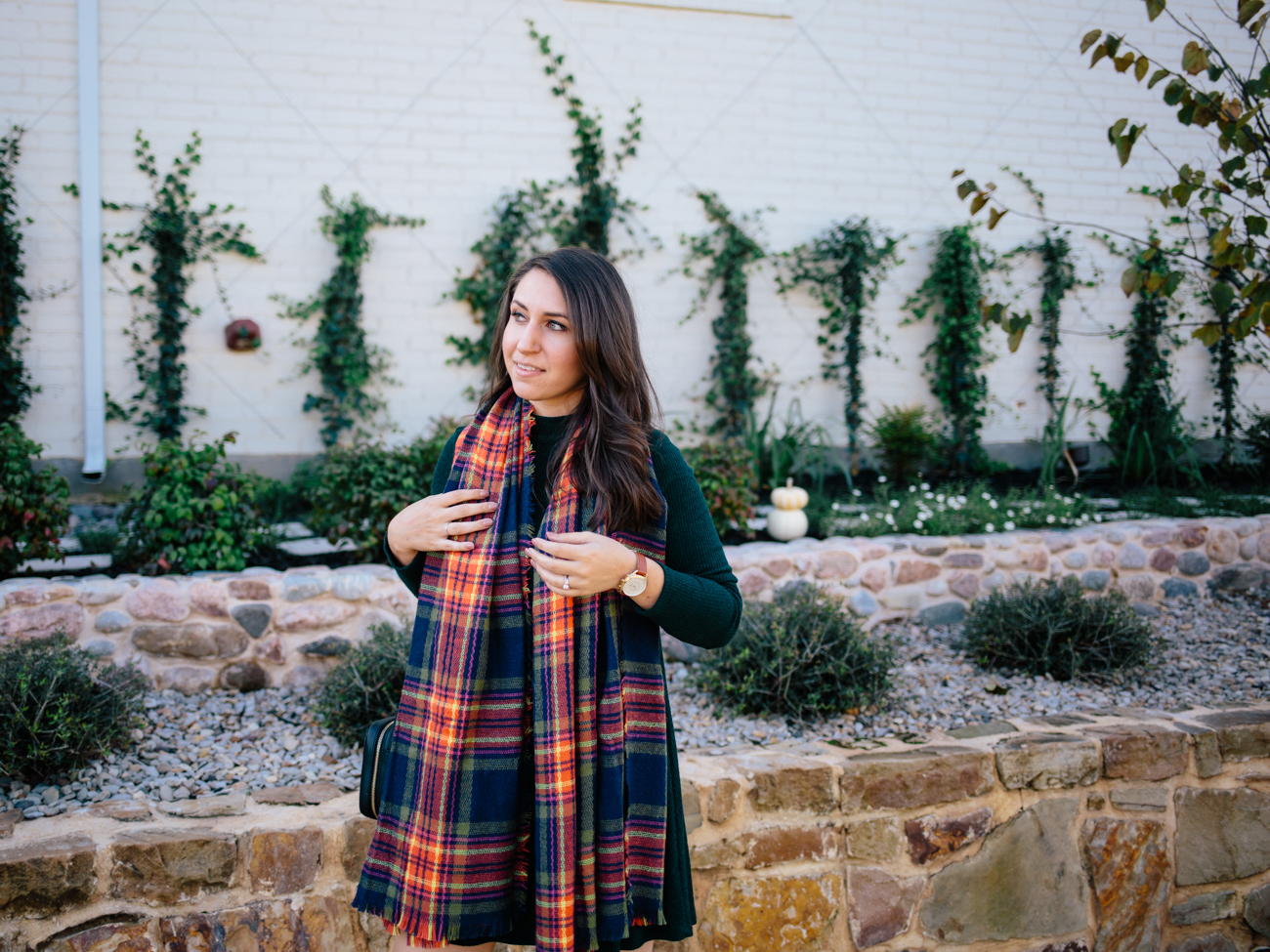 Blanket Scarf on Waketon Road wearing Old Navy