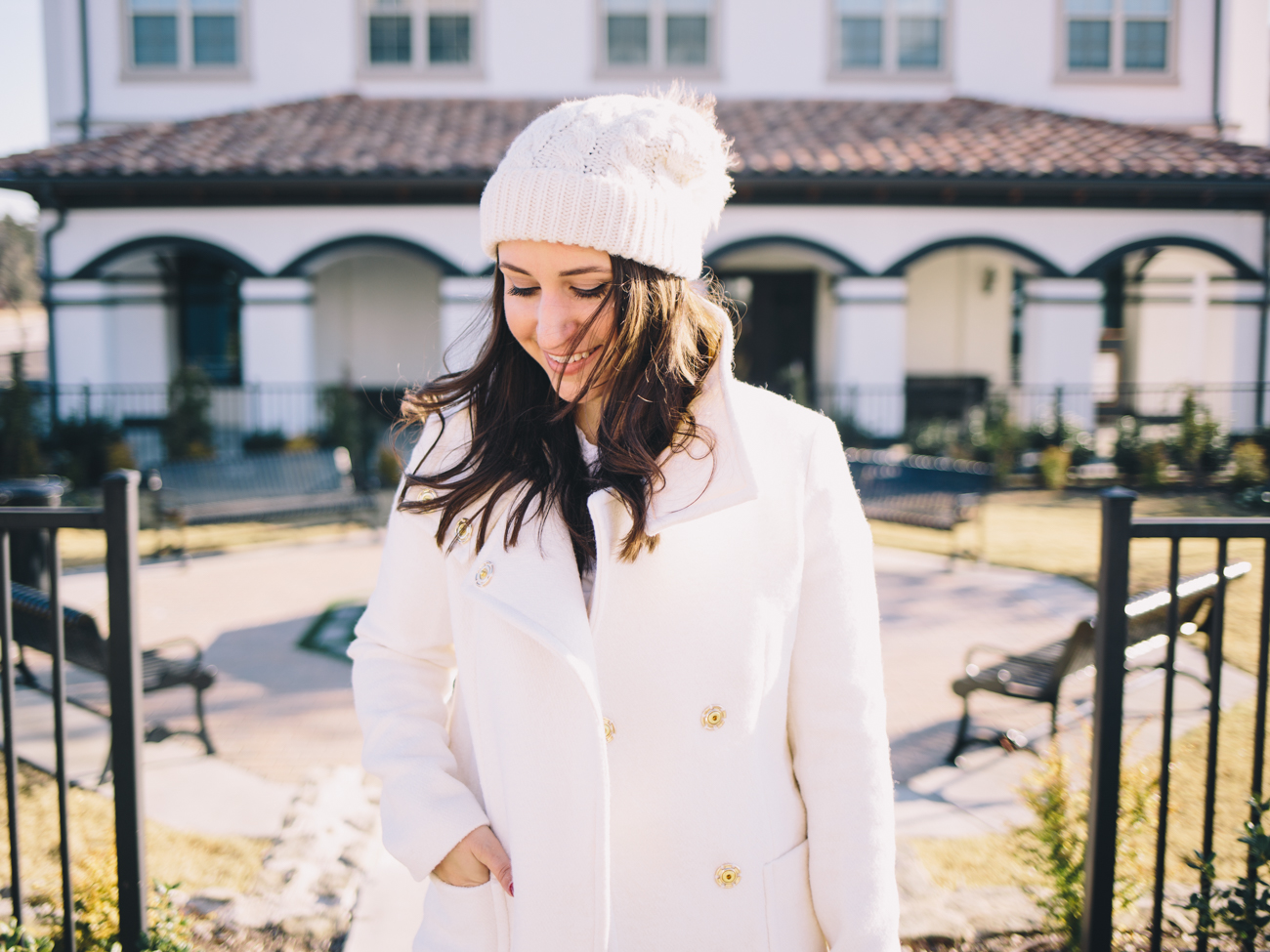 Winter White on Waketon Road wearing Ann Taylor + Cuyana